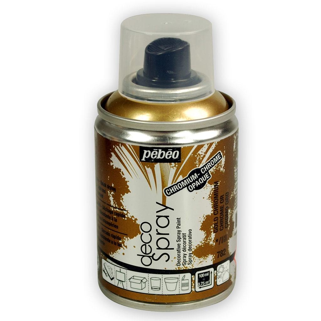 decospray p b o bombe de peinture en spray chrome or. Black Bedroom Furniture Sets. Home Design Ideas