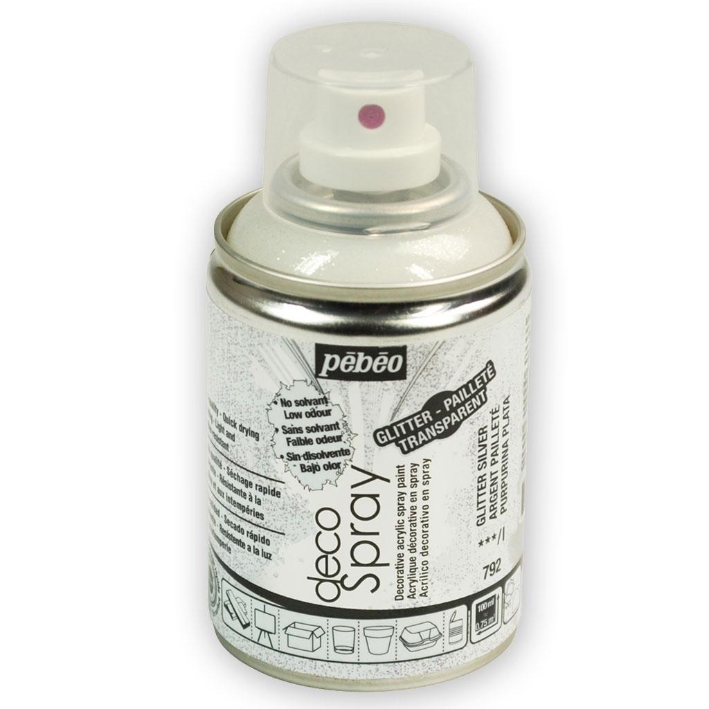 Decospray Pébéo Bombe De Peinture En Spray Pailleté Argenté X 100 Ml