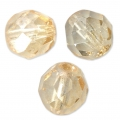 Facettes 8 mm Luster Topaz Gold x20