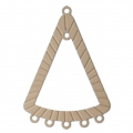 Intercalaire/Chandelier teinté laser cut triangle 36x25 mm Powder Almond x1