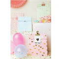 Sac en papier Yey - 120x210x60 mm - Let's party - Pastel x10