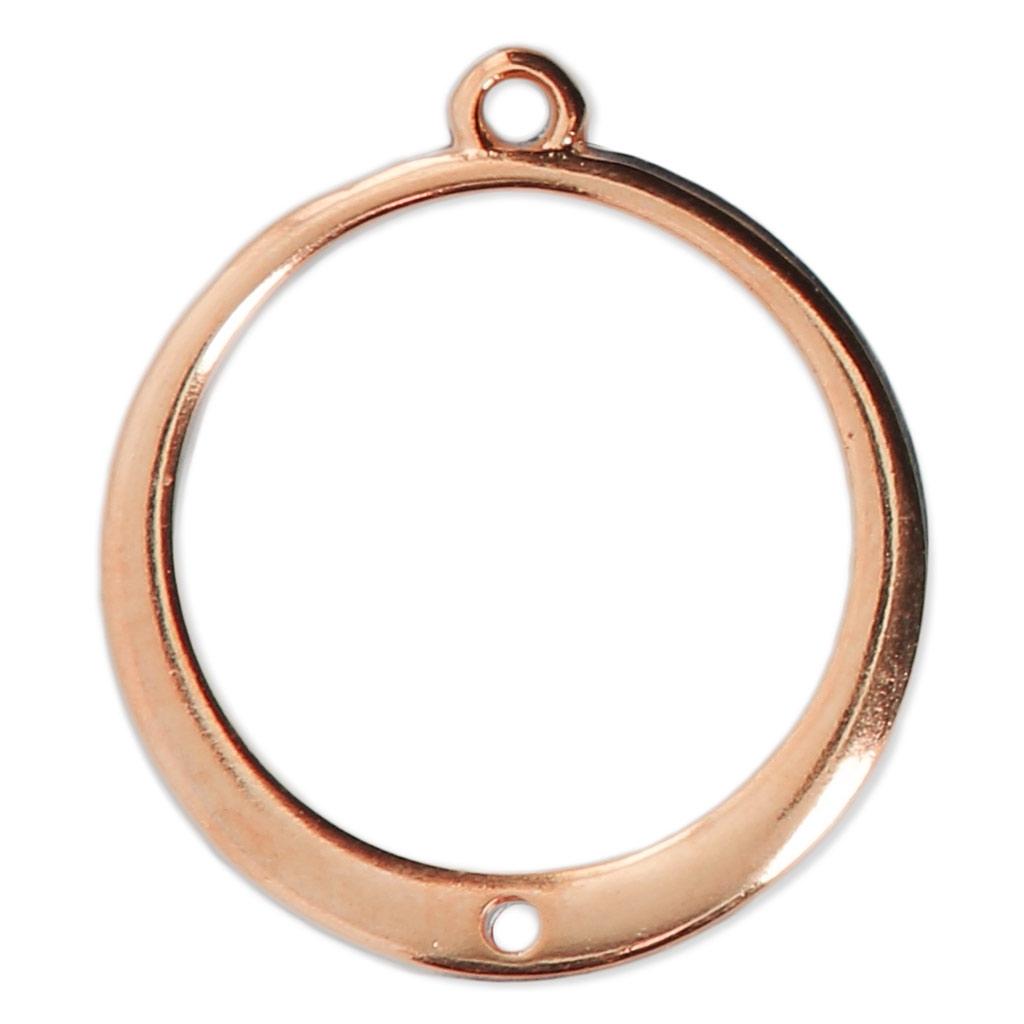 pendentif pour boucles d 39 oreilles rond avec un trou 24x22 mm dro perles co. Black Bedroom Furniture Sets. Home Design Ideas