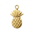 Breloque fine estampée Ananas 12.5x7 mm en Gold filled 14 carats x1