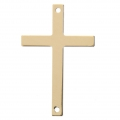 Intercalaire fin Croix 2 trous 33xx21 mm en Gold filled 14 carats x1