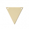Intercalaire fin Triangle 2 trous 18.5 mm en Gold filled 14 carats x1
