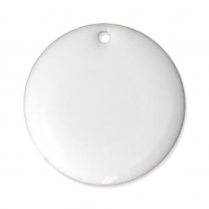 sequins ronds en m tal et r sine poxy 20 mm blanc x5 perles co. Black Bedroom Furniture Sets. Home Design Ideas