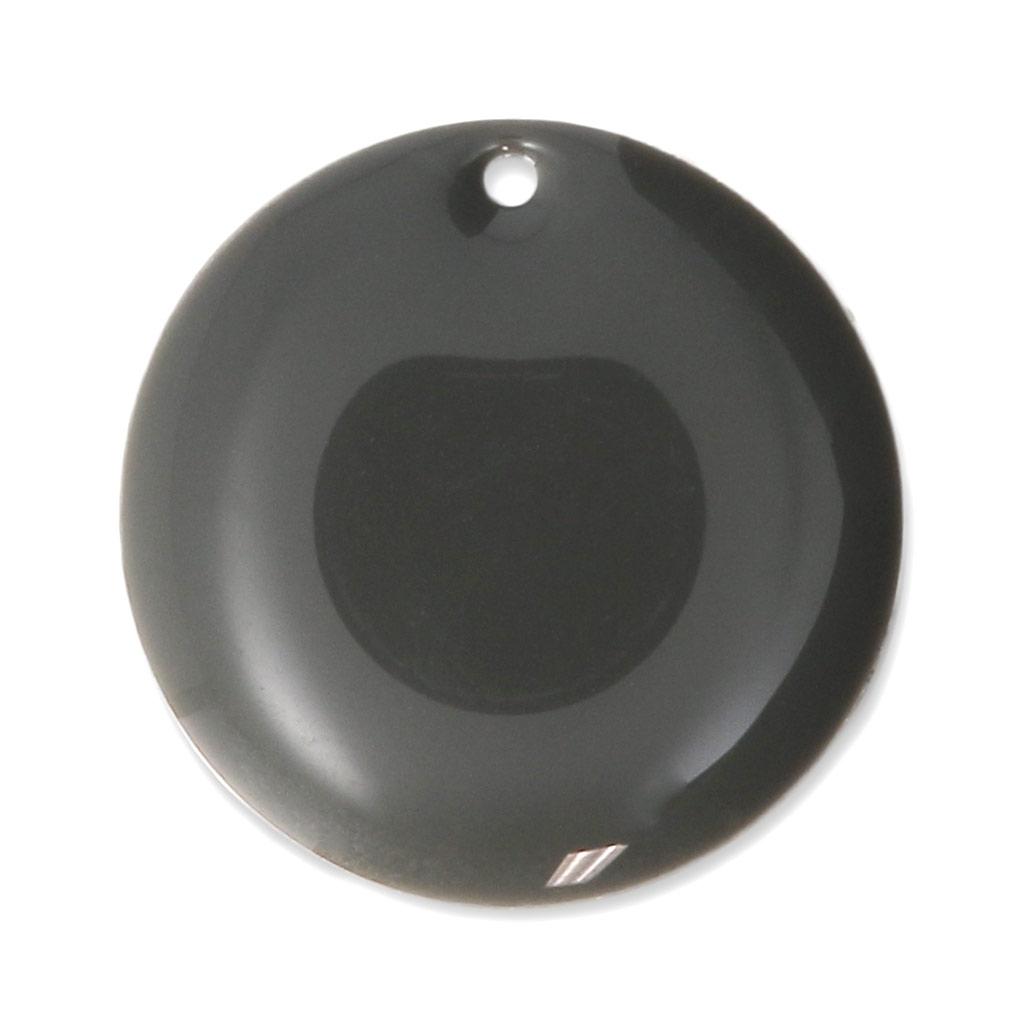 sequins ronds en m tal et r sine poxy 20 mm gris moyen x5. Black Bedroom Furniture Sets. Home Design Ideas