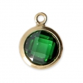 Pendentif 8.5x6.5 mm Emerald/Gold filled 14 carats x1