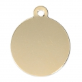 Médaille à graver ronde 23 mm Gold filled 14 carats x1