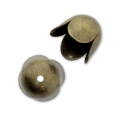 Coquilles tulipes 8 mm - bronze x4