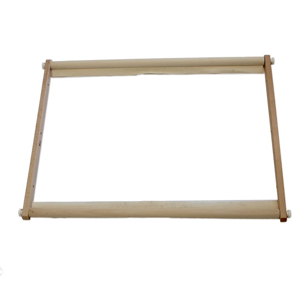 cadre rectangulaire en bois pour broderie tapisserie et punch need perles co. Black Bedroom Furniture Sets. Home Design Ideas