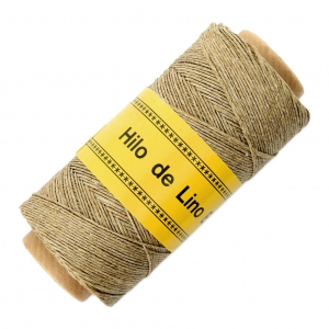 Fil De Lin Ciré Pour Bijoux Micro Macramé 0.7 Mm Couleur Naturel N°4 X 100 G