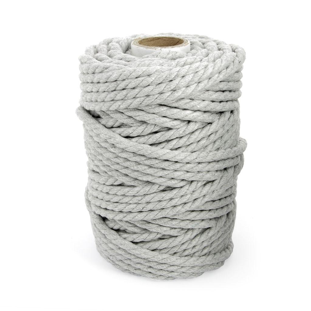 Quelle Ficelle Pour Macramé bobine de cordon en coton pour macramé 5 mm gris clair x 700g