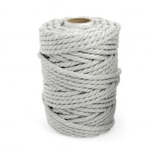 bobine de cordon en coton pour macram 4 5 mm gris clair x. Black Bedroom Furniture Sets. Home Design Ideas