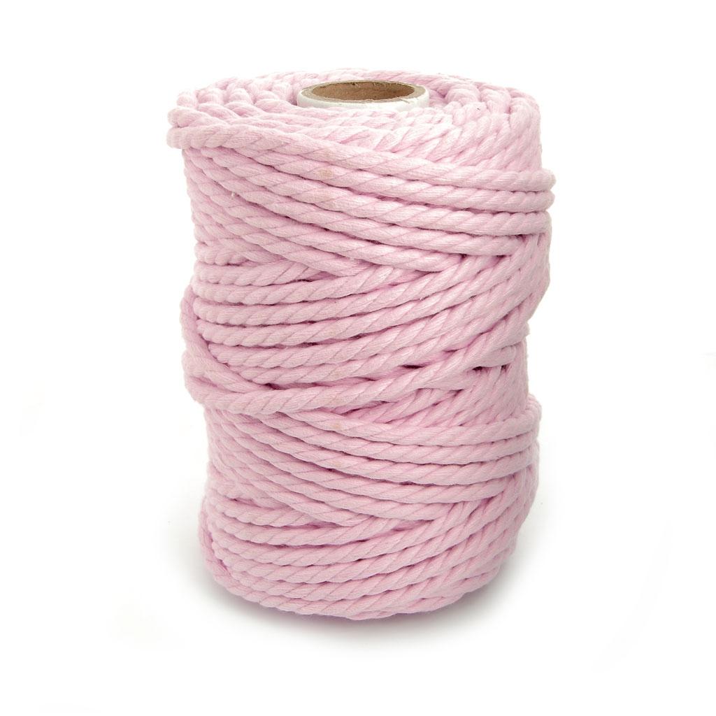 bobine de cordon en coton pour macram 4 5 mm baby rose x. Black Bedroom Furniture Sets. Home Design Ideas