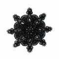 Ecusson Thermocollant dentelle - Arabesque 50 mm Noir x1