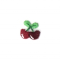 Ecusson Thermocollant Fruit 14x13 mm Cerise x1