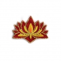 Ecusson Thermocollant Indien 35X27 mm Fleur de lotus  x1