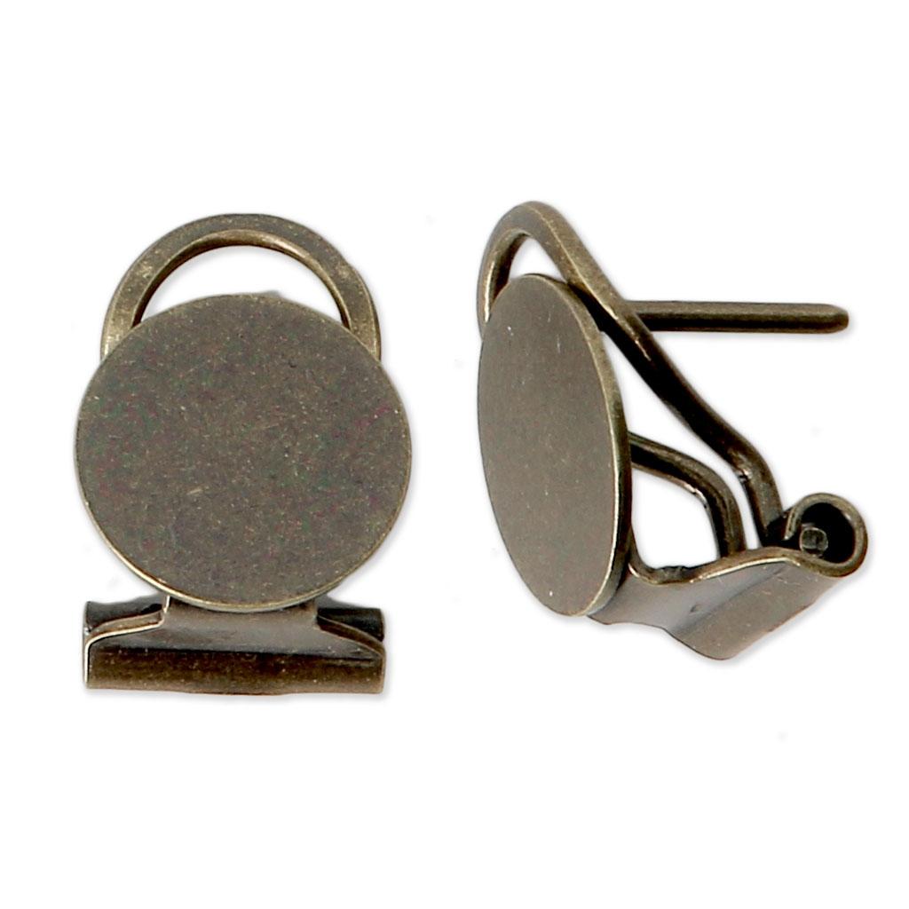 Bronze Pour Percées X2 Clips Mm 10 Oreilles Boucles D'oreilles WCeoxdrB