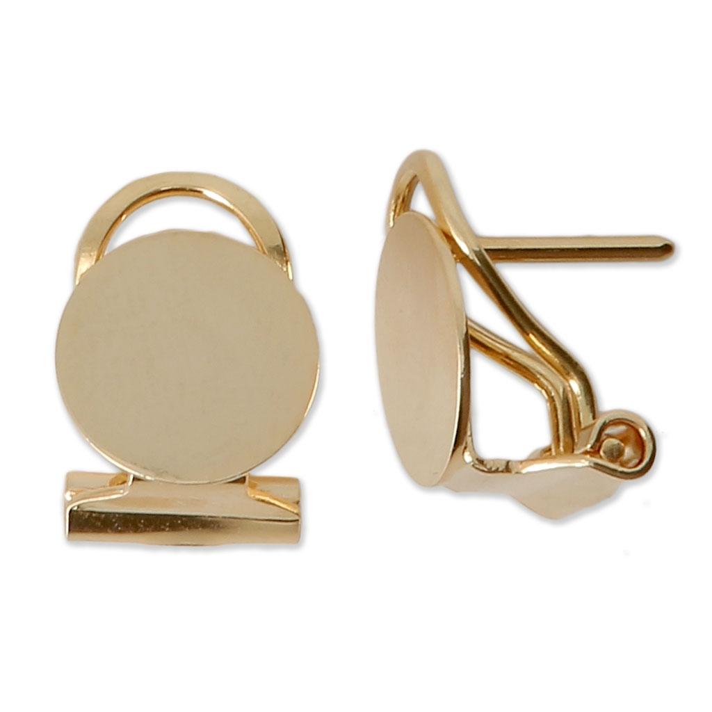 mode de vente chaude pas cher couleurs et frappant Boucles d'oreilles clips pour oreilles percées - 10 mm doré x2
