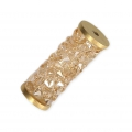 Crystal Fine Rocks Tube Swarovski 5950 15 mm Crystal Golden Shadow/doré x1
