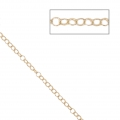 Chaîne maille fine 1.8x2.2 mm light gold HQ x1m