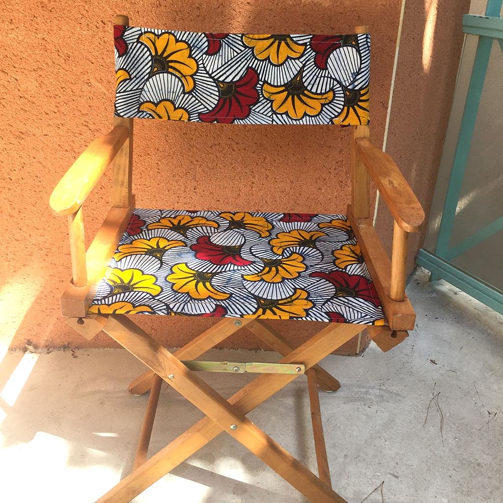 Comment Faire Un Tableau Avec Du Tissu tissu wax - fleurs de mariage - bordeaux / orange x10cm