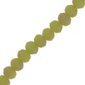 Rondes aplaties facettées 3x2 mm Pale Green Frosted x45cm