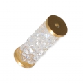 Crystal Fine Rocks Tube Swarovski 5950 15 mm Crystal Moonlight/doré x1