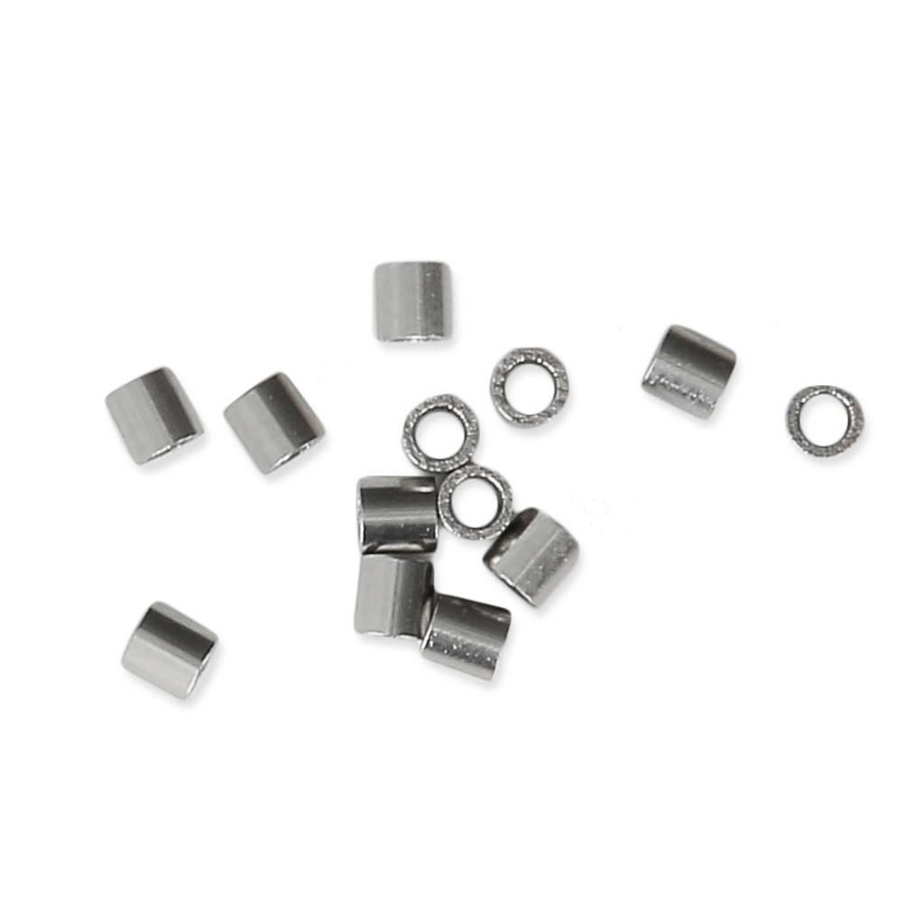 20 Perles métal strier 16 mm