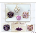 Perles en verre Paros® par Puca® 7x4 mm Opaque Light Rose Ceramic Look x10g