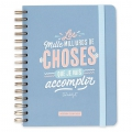 Agenda Semainier 2018 2019 Mr. Wonderful 16x22cm - Les mille milliards de choses