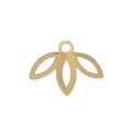Breloque ajourée petite feuille exclu Perles & Co  9 mm doré