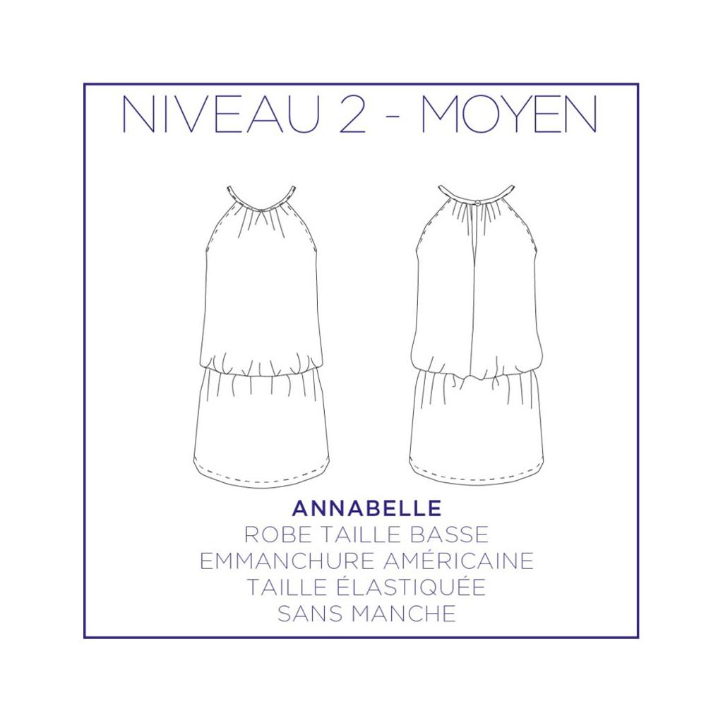 d1218367ec3 ... Patron couture Coralie Bijasson-Annabelle -Robe taille basse emmanchure  américaine