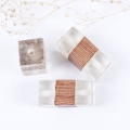 Perle forme tube rectangle en résine imitation bois 26x13 mm Transparent