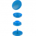 Boutons pressions BabySnap type KAM ronds 12,4 mm Bleu Roi x30