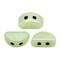 Perles en verre Kos® par Puca® 6x3 mm Opaque Light Green Ceramic Look x10g