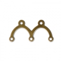 Intercalaires 2 ponts 17x8,5 mm bronze x10