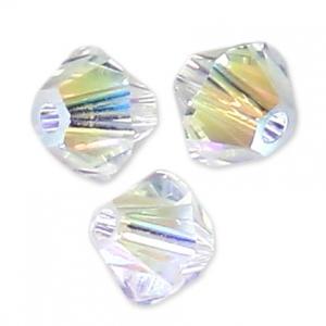 Toupies en cristal Swarovski 3 mm Crystal Shimmer 2X x50