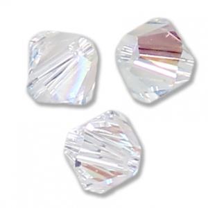 Toupies en cristal Swarovski 4 mm Crystal Shimmer x50