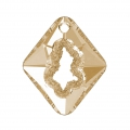 Pendentif Swarovski 6926 Growing Crystal Rhombus 36 mm Crystal Golden Shadow
