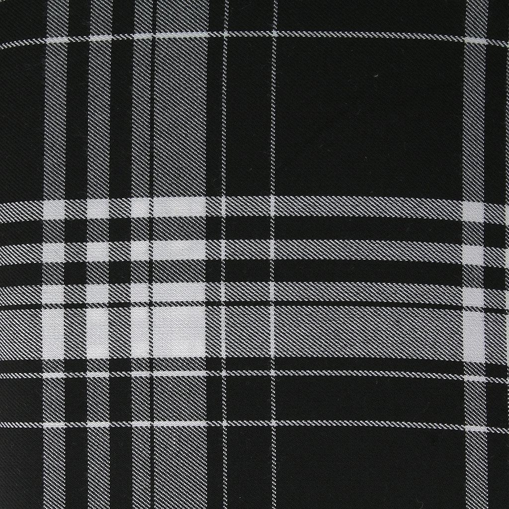 tissu tartan ecossais grands carreaux noir blanc x10cm. Black Bedroom Furniture Sets. Home Design Ideas