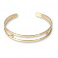 Bracelet Eco en laiton spécial pour perles de 4 mm - 9x150 mm doré