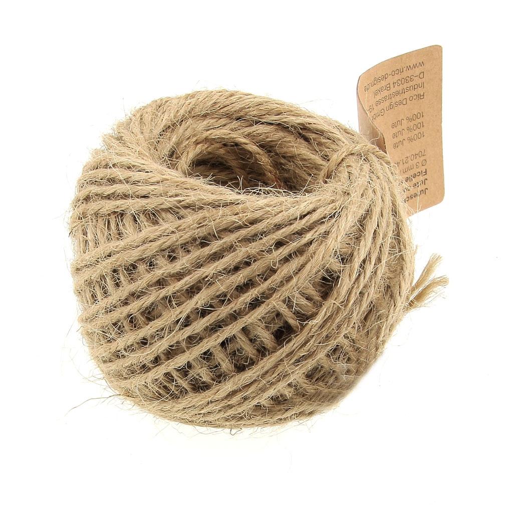 Quelle Ficelle Pour Macramé ficelle de jute 3 mm à crocheter & autres loisirs créatifs - naturel x 25 m