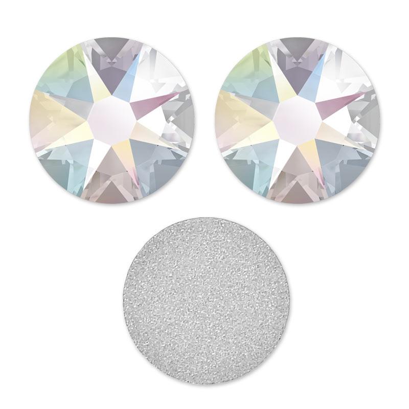 Strass à coller en cristal Swarovski 4 mm Crystal AB x36