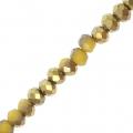 Rondes aplaties facettées 3x2 mm Yellow / Golden x43cm