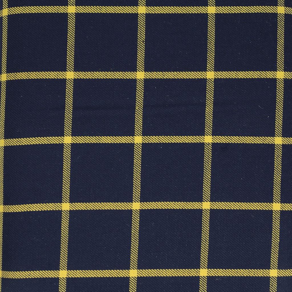 tissu tartan ecossais carreaux bleu marine ocre x10cm perles co. Black Bedroom Furniture Sets. Home Design Ideas