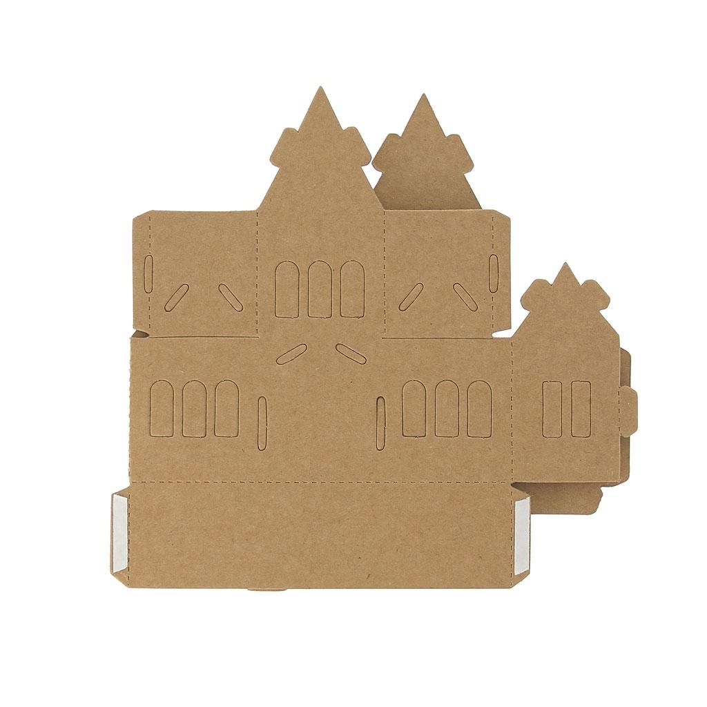 Maison composer et d corer en carton mod le 3 perles co - Maison a decorer ...
