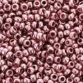 Mini-rocailles 11/0 - 2 mm Rose Poudré Métallique x10g