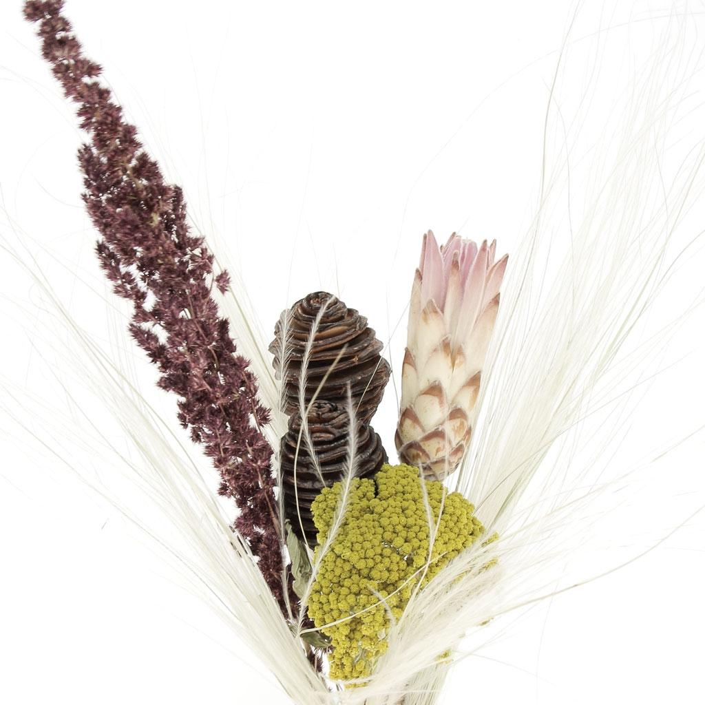 Fleur De Craspedia Jaune Sechee Pour Creation Diy X1 Tige Perles Co